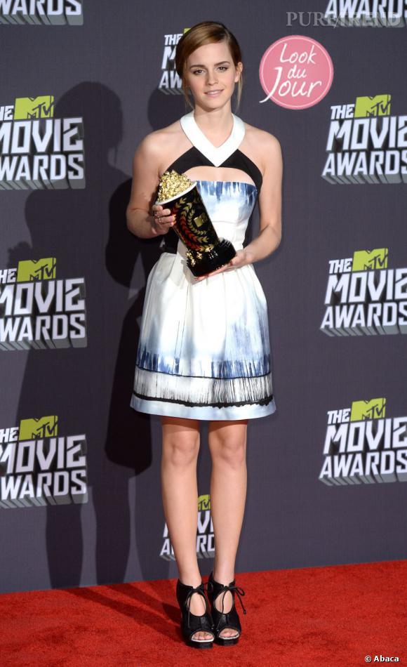 Emma Watson aux MTV Movie Awards 2013.