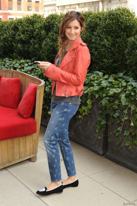 Ashley Tisdale portant du Rock & Republic pour Kohl's Jean à New York le 15 avril 2013.