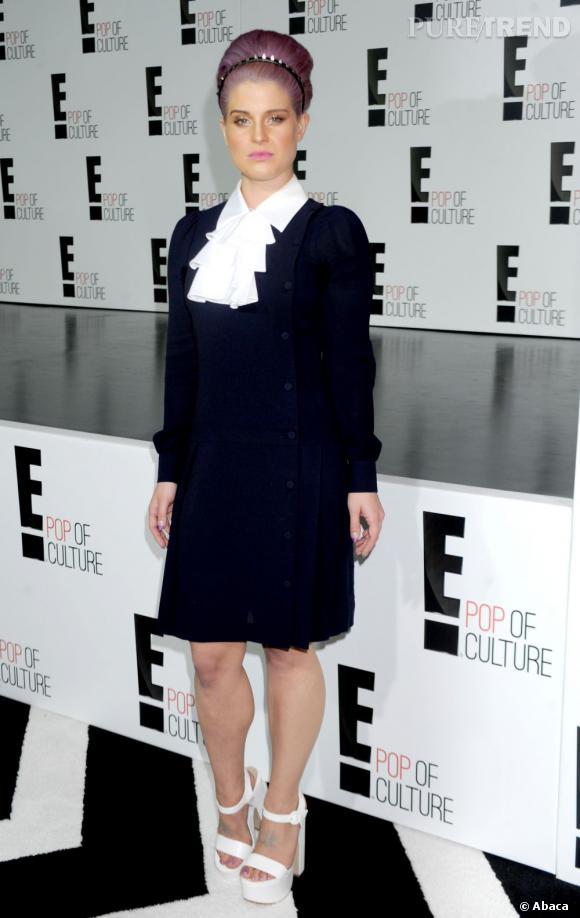 Kelly Osbourne devant le panneau 2013 de la chaîne E!, le 23 avril 2013.