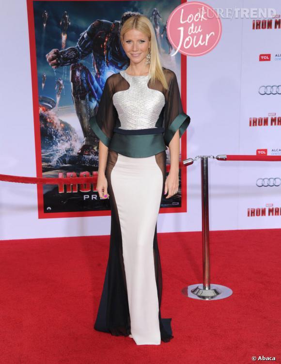 """Gwyneth Paltrow à la première d'""""Iron Man 3"""" au El Capitan Theater d'Hollywood, à Los Angeles, le 25 avril 2013."""