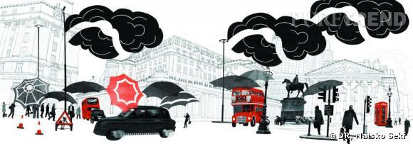 La Bank of England de Londres vue par l'artiste japonaise Natsko Seki.