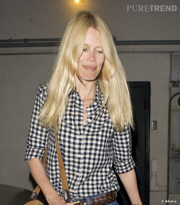 Les mannequins sans maquillage : Claudia Schiffer.