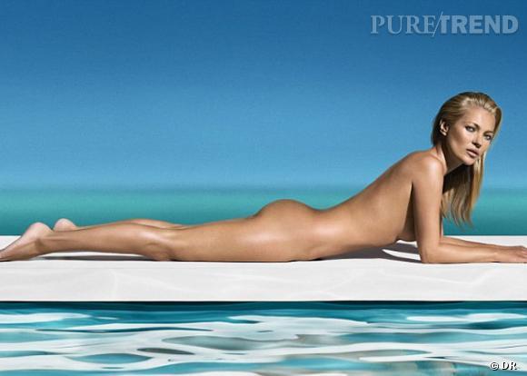 Kate Moss, nue pour St Tropez.