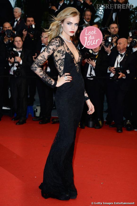 Cara Delevingne, sulfureuse et incroyablement sexy à la cérémonie d'ouverture du Festival de Cannes 2013.