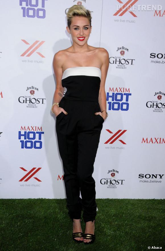 Miley Cyrus particulièrement chic à la soirée Maxim.
