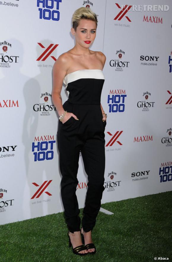Miley Cyrus nous montre encore une fois qu'elle peut être élégante malgré sa coupe punk !
