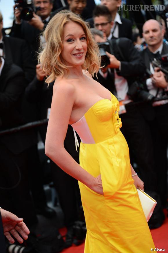 """Ludivine Sagnier lors de la première de """"Jeune et Jolie"""" de François Ozon à Cannes."""