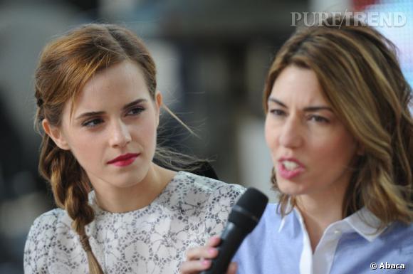 Emma Watson et Sofia Coppola, invitées du Grand Journal le vendredi 17 mai à Cannes.