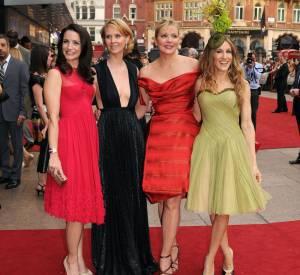 """Les quatre filles de """"Sex and the City"""" à l'avant-première à Londres."""