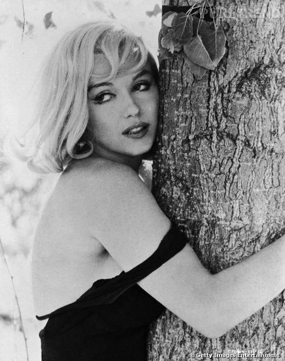"""Marylin Monroe, en 1961, durant le tournage de """"The Misfit"""", elle a considérablement minci et affiche une petite mine."""