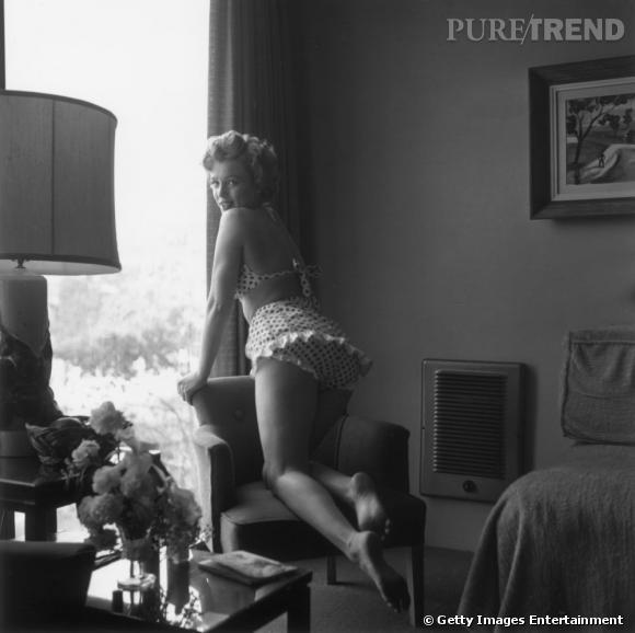 Marylin Monroe sexy et charismatique dans un environnement du quotidien.