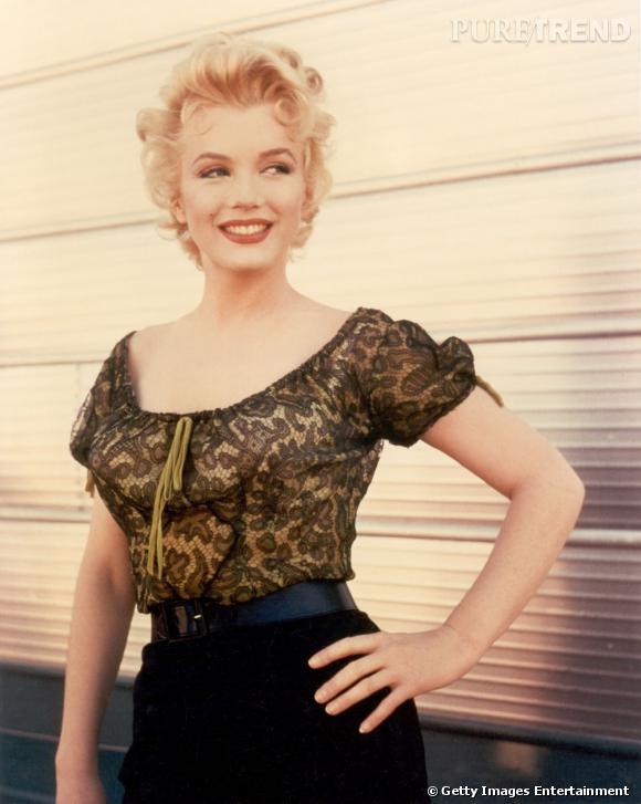 Marylin Monroe éblouissante et charmeuse en 1956.
