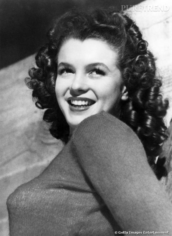 La jeune Marylin Monroe, en 1940.