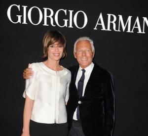 "Claudia Pandolfi et Giorgio Armani à la soirée ""One Night Only"" organisée par Giorgio Armani."
