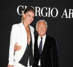 "Francesca Piccinini et Giorgio Armani à la soirée ""One Night Only"" organisée par Giorgio Armani."