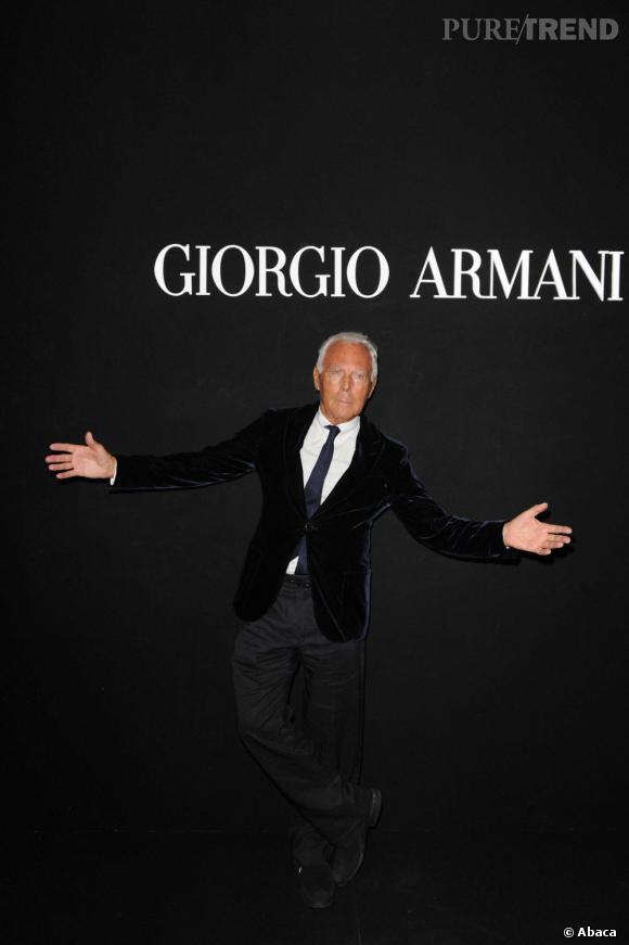 "Giorgio Armani à sa soirée ""One Night Only""."