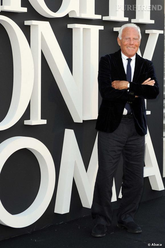 "Giorgio Armani à sa soirée ""One Night Only"" à Rome."