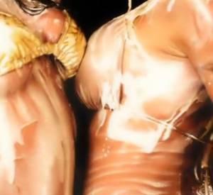Dans la vidéo, Pamela Anderson, couverte de crème, se frotte contre sa secrétaire.