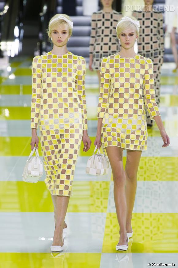 Pour adopter les carreaux version Printemps-Eté 2013 copiez le look de podium signé Louis Vuitton