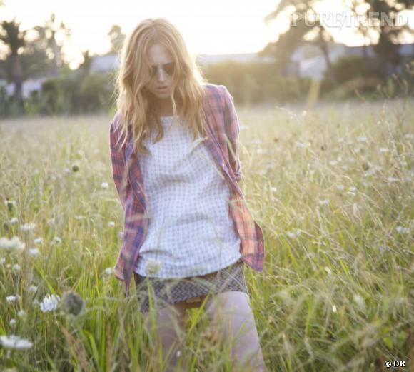 Le bon shopping pour adopter les carreaux version Printemps-Eté 2013 :      La chemise de Roseanna / Lookbook SS2013