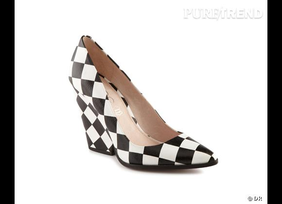 Le bon shopping pour adopter les carreaux version Printemps-Eté 2013 :      Escarpins Aldo, 109 €