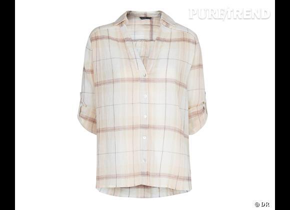 Le bon shopping pour adopter les carreaux version Printemps-Eté 2013 :      Chemise Mango, 24,99 €