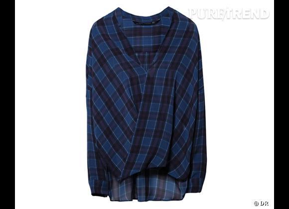 Le bon shopping pour adopter les carreaux version Printemps-Eté 2013 :      Chemise portefeuille Zara, 49,95 €