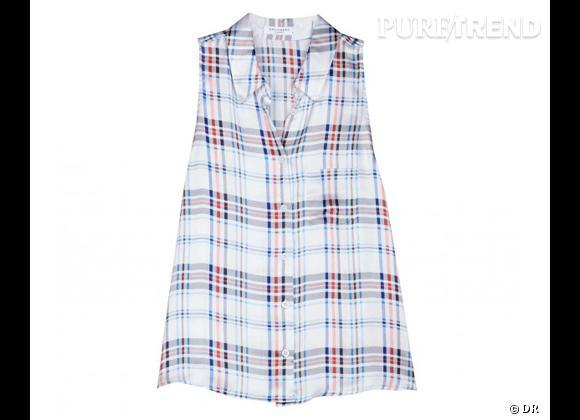 Le bon shopping pour adopter les carreaux version Printemps-Eté 2013 :      Chemise Equipment, environ 140 €