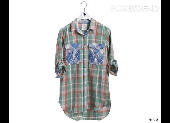 Le bon shopping pour adopter les carreaux version Printemps-Eté 2013 :      Chemise MIH Jeans, environ 150 €