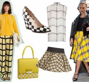 Shoppping, podiums, looks de stars : adoptez les carreaux version Printemps-Eté 2013 !