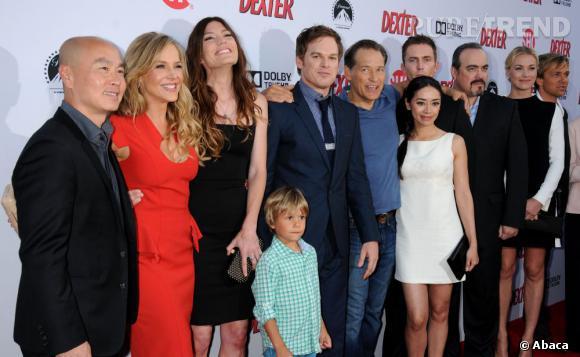 """Le casting au complet pour la soirée """"Dexter"""" saison 8 à Los Angeles."""