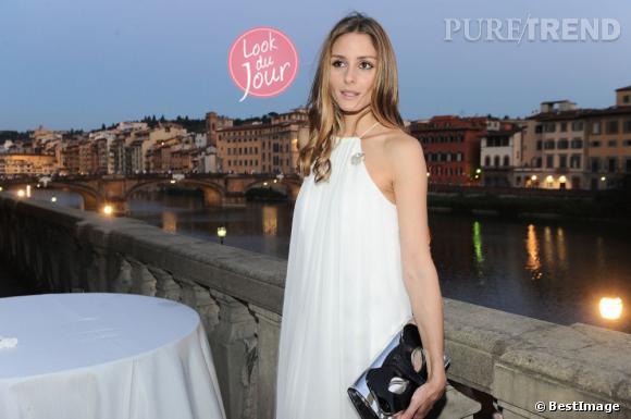Olivia Palermo lors de la soirée de présentation de la collection Croisière 2014 d'Aquazzura à Florence en Italie.
