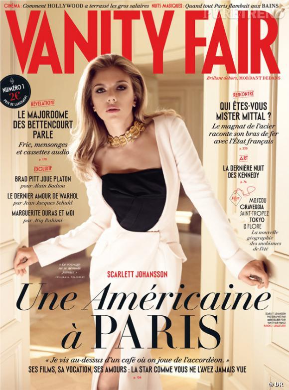 Scarlett Johansson en couverture du premier numéro de l'édition française du Vanity Fair.