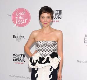 Maggie Gyllenhaal, le tricot se fait sexy pour la promo de ''White House Down''