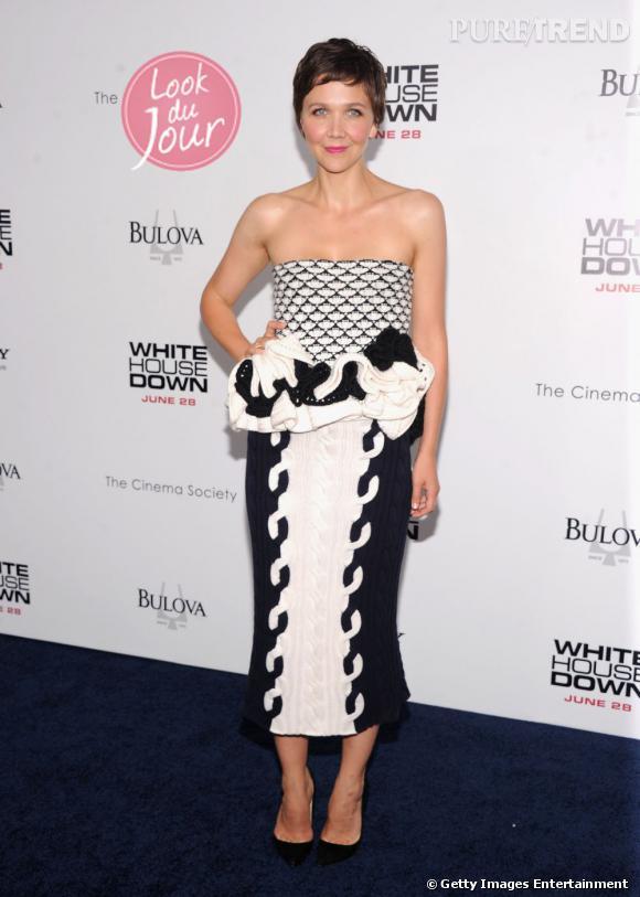 """Maggie Gyllenhaal à la première de """"White House Down"""" à New York."""