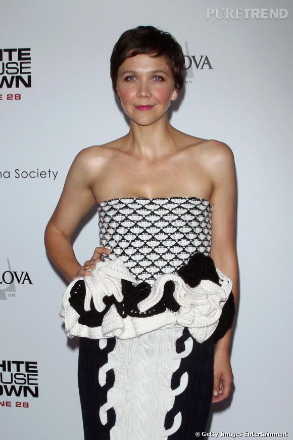 Maggie Gyllenhaal plutôt audacieuse pour la première du film.