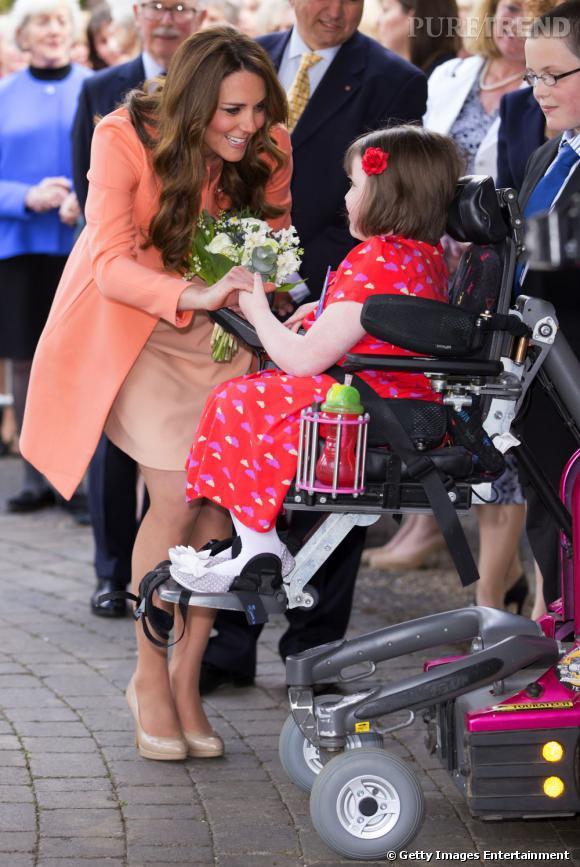 La bonne cause : Kate    La Duchesse de Cambridge soutient avec force la cause des enfants malades et handicapés.