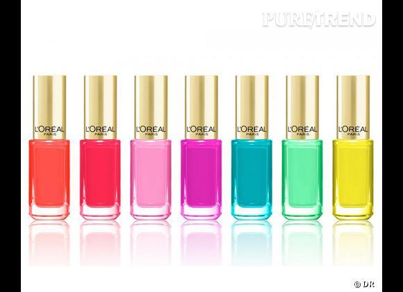 Dans mon vanity cet été : un make-up néon ! Vernis à ongles Color Riche, collection Néon, L'Oréal Paris, 6,50 €