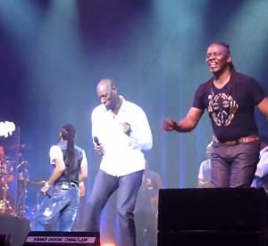 Omar Sy fait son show au concert d'Earth, Wind et Fire au Zenith