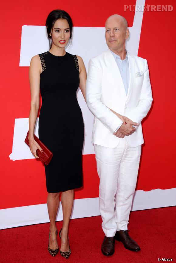"""Bruce Willis et Emma Heming, un couple tendance à la première de """"Red 2""""."""