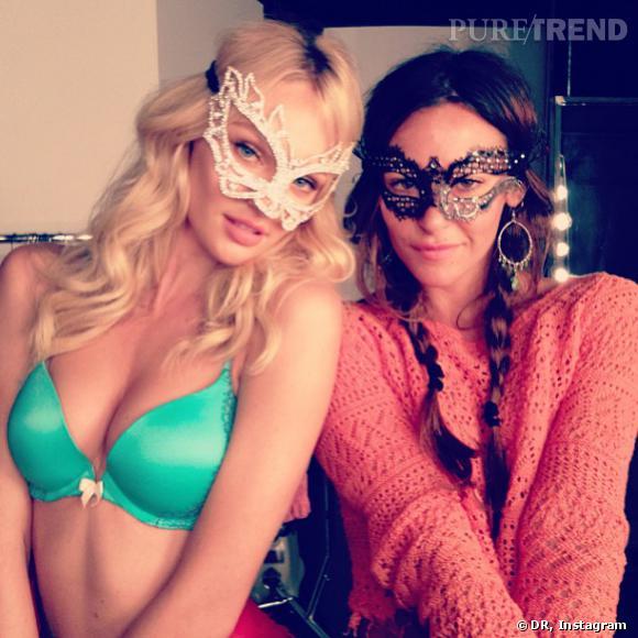 Candice Swanepoel se préparerait-elle pour le bal masqué Victoria's Secret ?