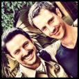 """Jason Dohring et Brandon Hillock sur le tournage du film """"Veronica Mars""""."""