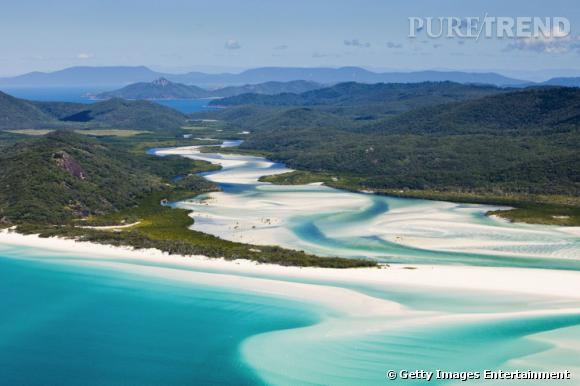 10 top des plus belles plages du monde en 2013 selon Tripadvisor. Plage WhiteHaven en Australie.