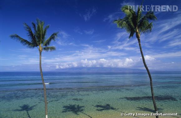 10 top des plus belles plages du monde en 2013 : Plage Ka'anapali à Hawaï.