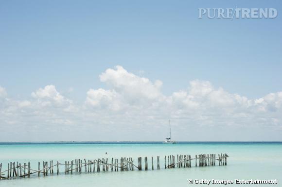 10 top des plus belles plages du monde en 2013 : Plage del'Norte sur l'Ile des Femmes dans la peninsule du Yucatan.