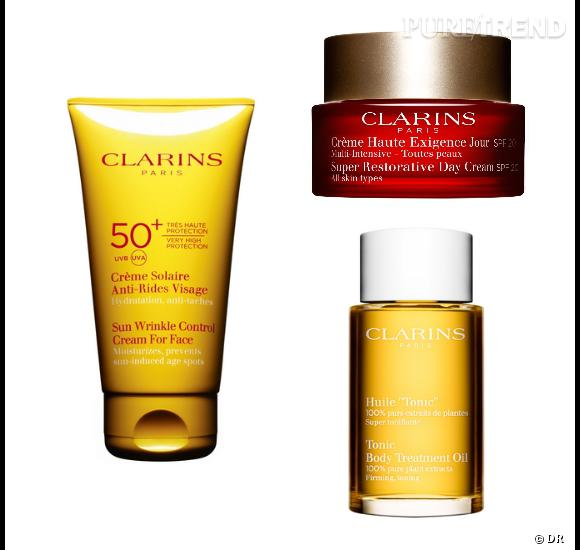 Produits solaires, lotions toniques, crèmes anti-âge ou huiles pour le corps... La sélection de produits de cette vente privées Clarins et très complète.