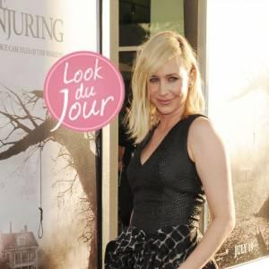"""Vera Farmiga mise sur une robe sombre pour l'avant-première de """"The Conjuring"""" à Los Angeles."""