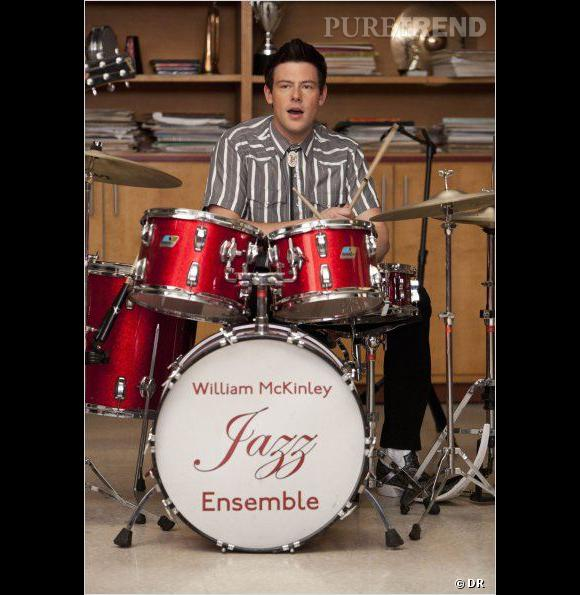 """Cory Monteith dans le rôle de Finn Hudson, pour """"Glee""""."""
