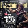 """Norman Reedus alias Daryl Dixon dans """"The Walking Dead"""" en couverture d'Entertainement Weekly."""