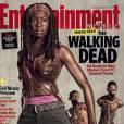 """Danai Gurira alias Michonne dans """"The Walking Dead"""" en couverture d'Entertainement Weekly."""